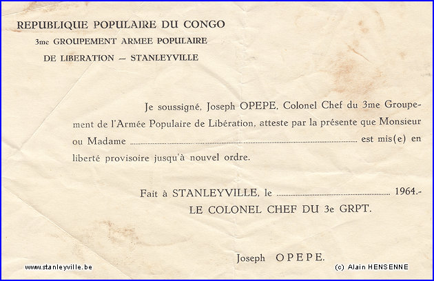 Document APL - Colonel Opepe